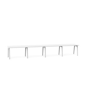 "Series A Single Desk for 4, White, 47"", White Legs,White,hi-res"